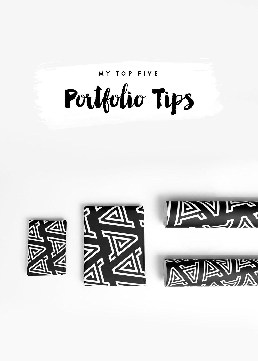 Nubby Twiglet | 5 Portfolio Tips